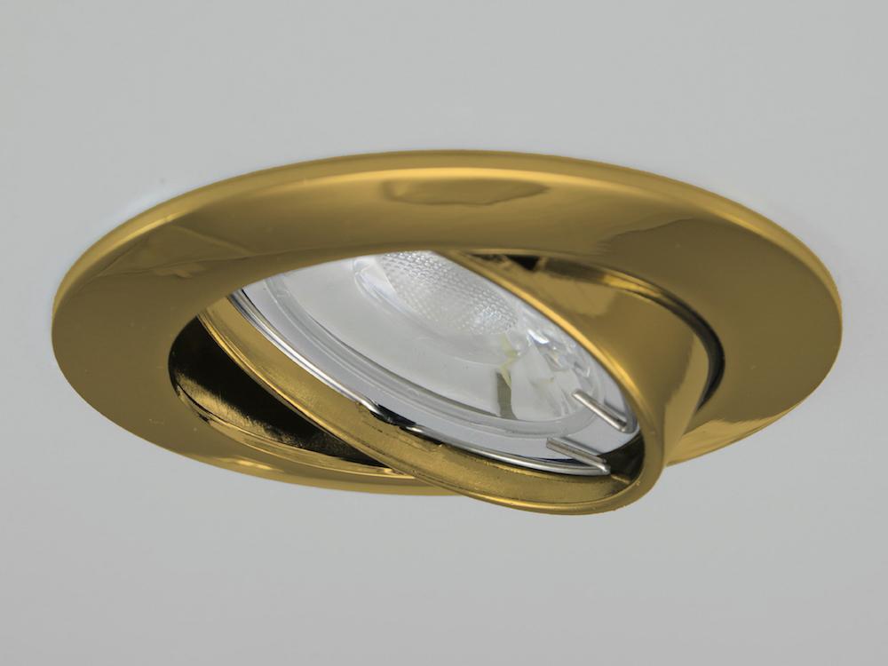 Einbaustrahler ZL-1602 Gold / ohne Leuchtmittel
