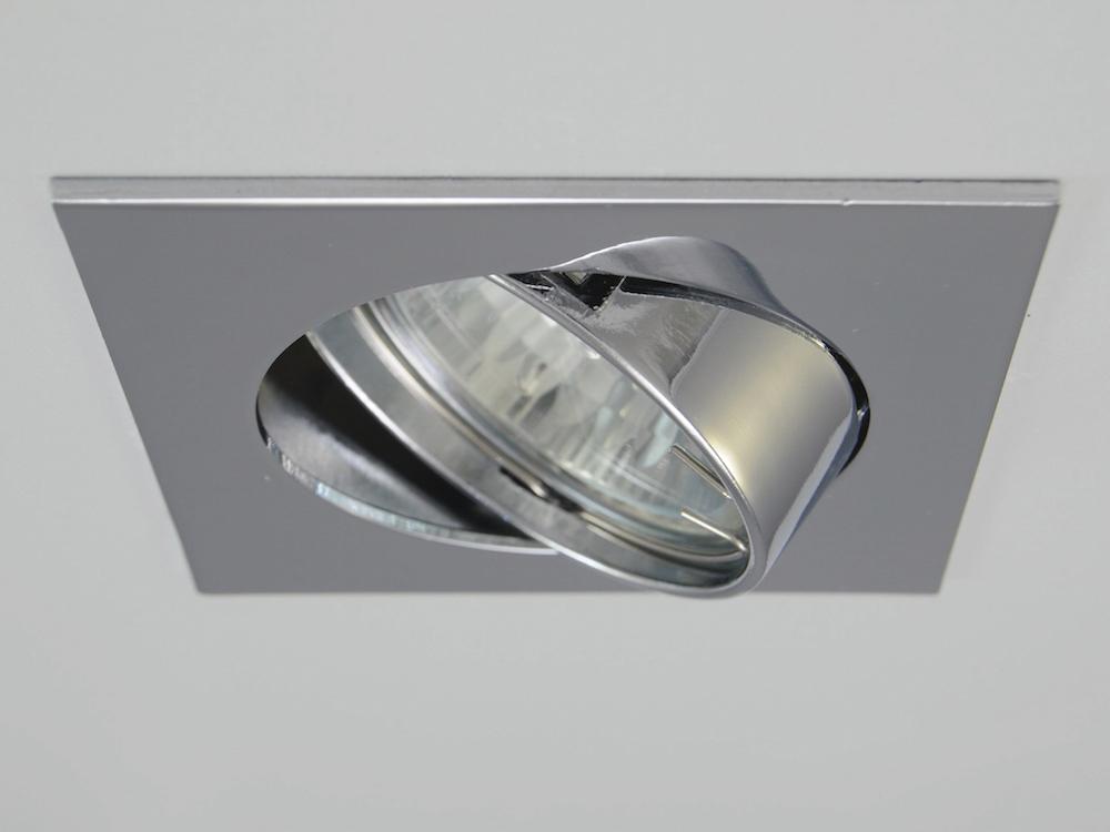 Einbaustrahler ZL-1608 Chrom / ohne Leuchtmittel