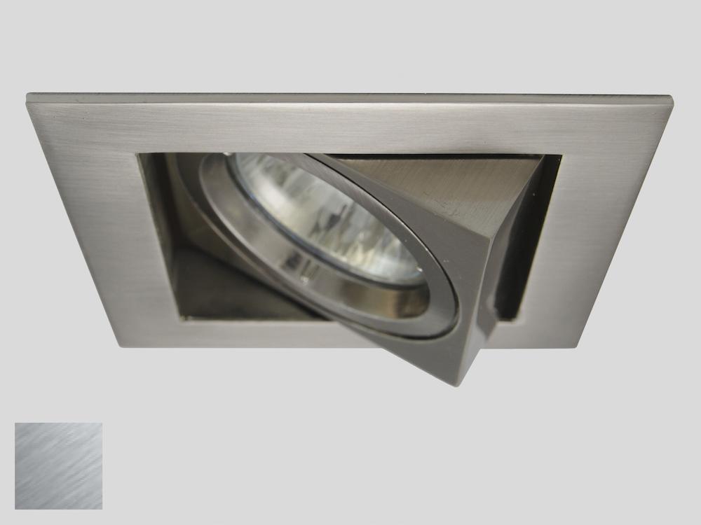 Einbaustrahler ZL-1624 Stahl gebürstet / 5W GU10 - Warmweiß